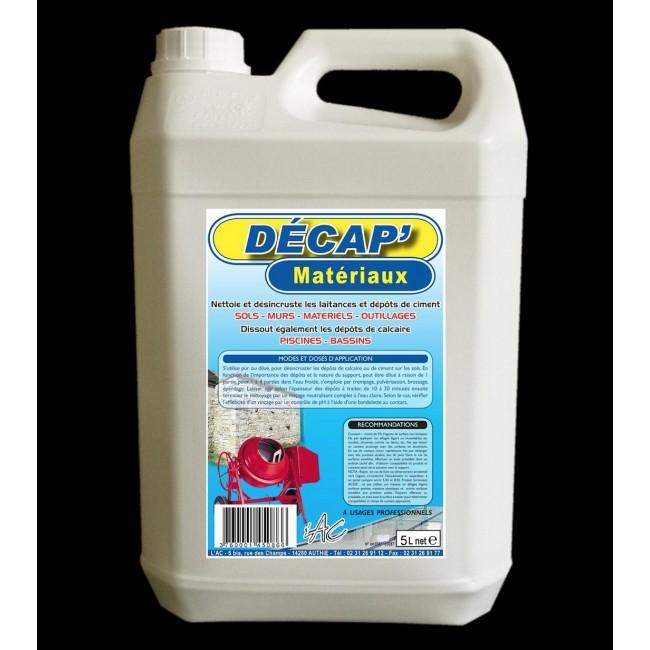 Décap' matériaux - contre laitance et dépôts de ciment ASSISTANCE CHIMIQUE