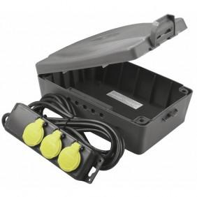 Coffret multiprise - étanche - fixation au mur - Masterbox - IP54 LUCECO