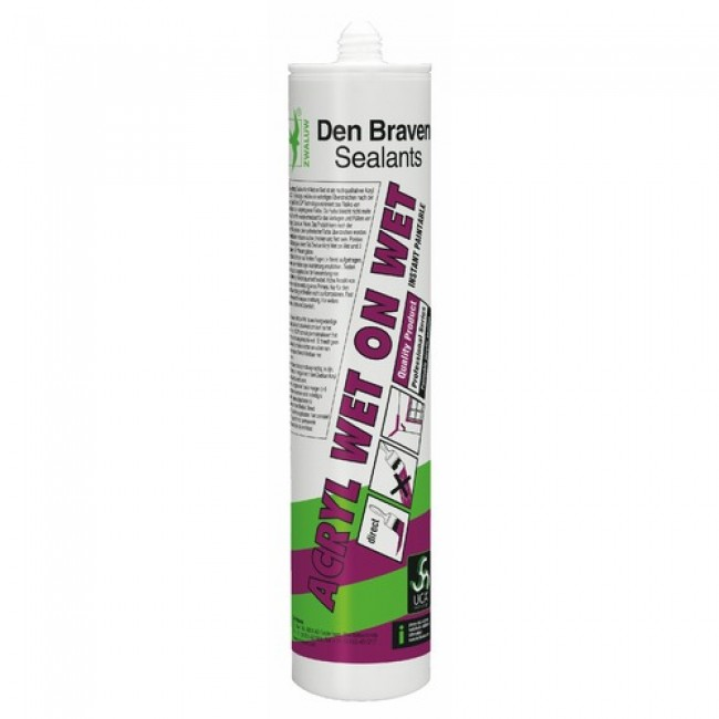 Mastic acrylique - cartouche 310 ml - Wet on Wet DEN BRAVEN