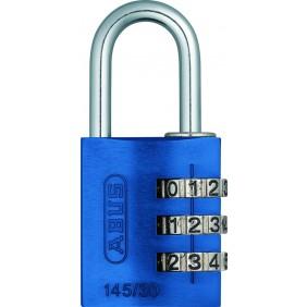 Cadenas à code 3 chiffres, modèle 145/30 en aluminium, 9 coloris ABUS
