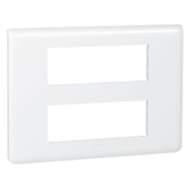 Plaque de finition horizontale Mosaic blanche - 2X6 modules LEGRAND