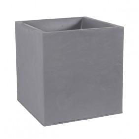 Bac carré  - hauteur 40 cm - 31 litres - gris galet - Volcania 13730 EDA PLASTIQUES