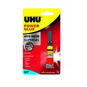 Colle de réparation instantanée gel - Power Glue 3 g Uhu