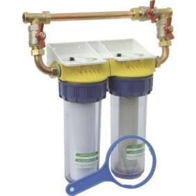 Filtre anti-calcaire et anti-corrosion - avec bypass - FD34CBP POLAR