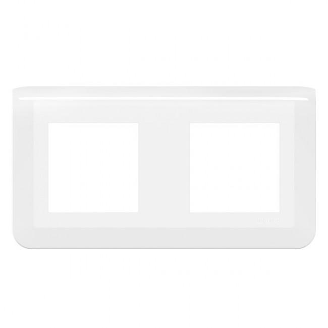 Plaque de finition horizontale Mosaic blanche - 2X2 modules LEGRAND