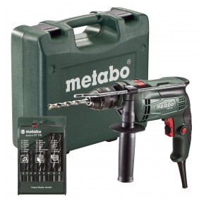 Perceuse à percussion 650W + coffret 13 forets offert - SBE650 METABO