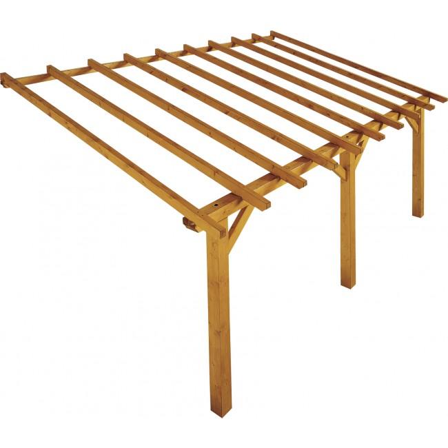 Carport en bois - longueur 500 cm - Prado JARDIPOLYS
