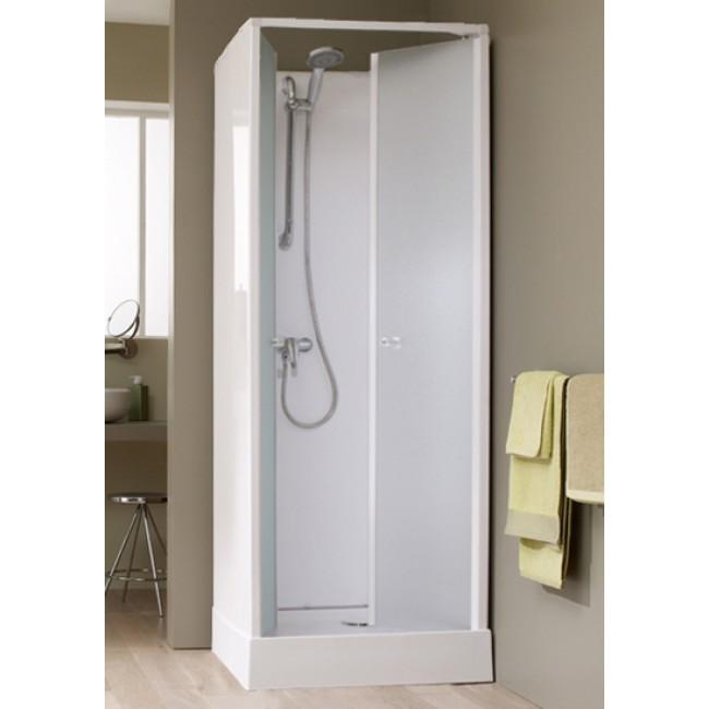 Cabine de douche Surf 4  - 80X80 cm - accès de face - portes battantes LEDA