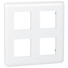 Plaque de finition horizontale Mosaic blanche - 2X2x2 modules LEGRAND