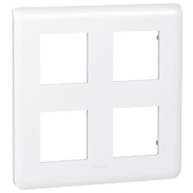 Plaque de finition horizontale Mosaic blanche - 2X2x2 modules LEGRAND