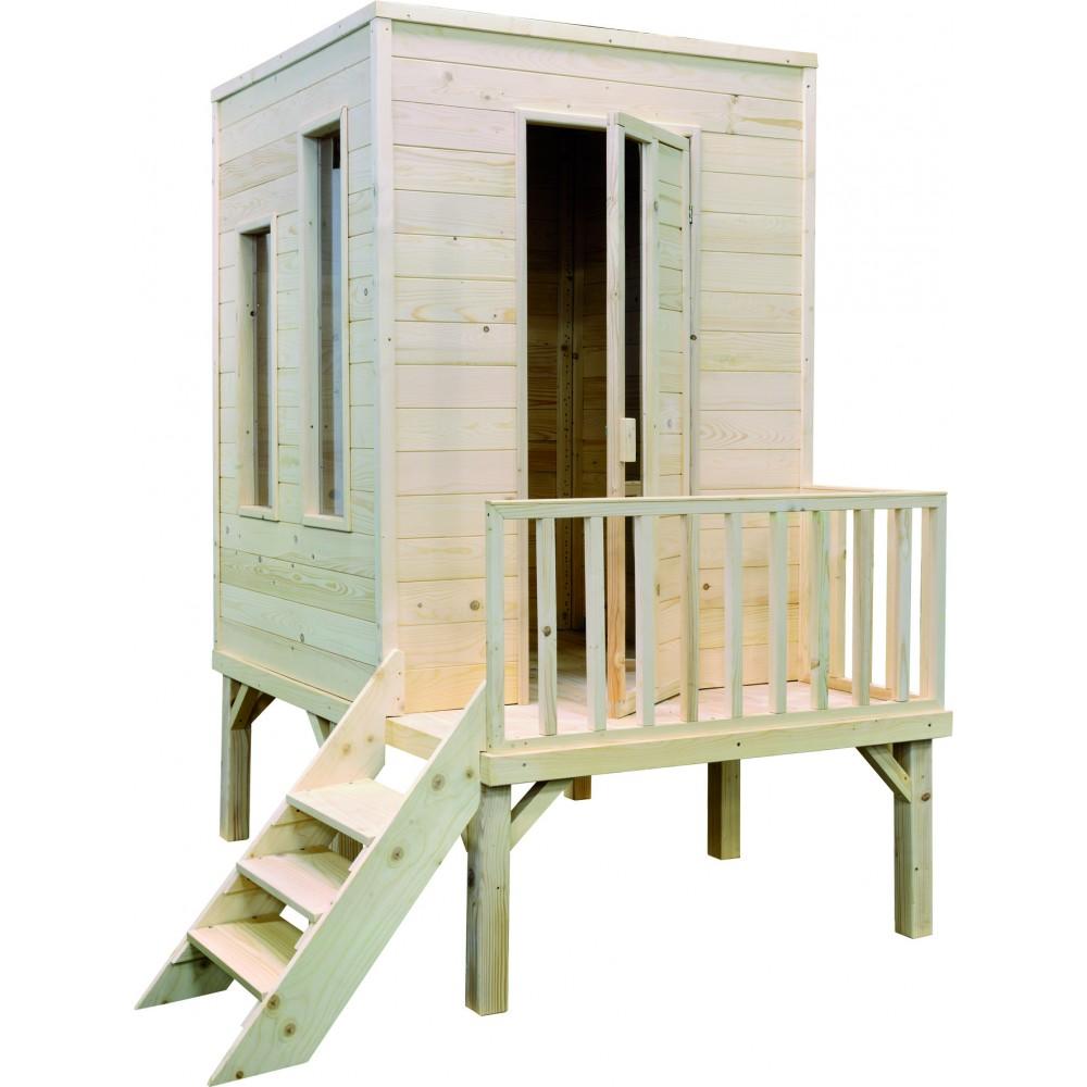 maisonnette enfant en bois cam l on sur pilotis 2 2 m. Black Bedroom Furniture Sets. Home Design Ideas