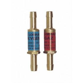 Raccords à clapet acétylène/oxygène - Type DA EN 730-1 LE LORRAIN