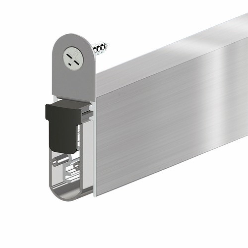 Plinthe automatique en aluminium ellen matic soundproof for Balai bas de porte