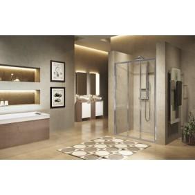 Paroi de douche - portes coulissantes - verre transparent -Lunes 2.0 3P NOVELLINI