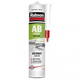 Mastic acrylique AS - bâtiment en phase aqueuse - coloris blanc RUBSON