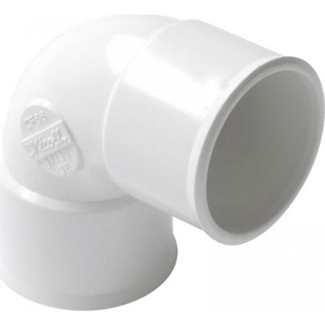 Coude PVC blanc 87°30 femelle / femelle NICOLL