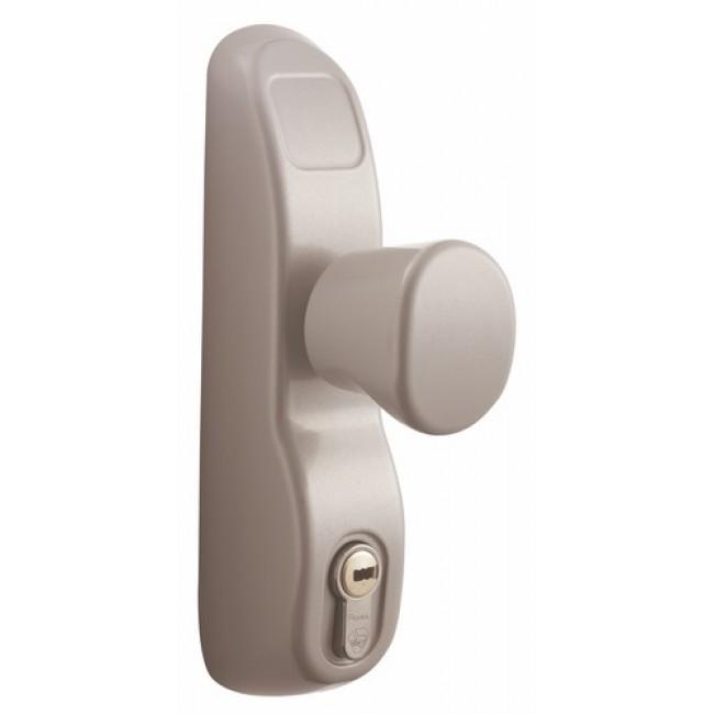Poignée à bouton condamnable par clé pour serrure antipanique PE 13/23AV VACHETTE