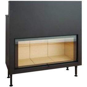 Insert à bois - pour surface de 170 m2 - L125 x P49.5 x 114 cm - C1250ES TERMOFOC