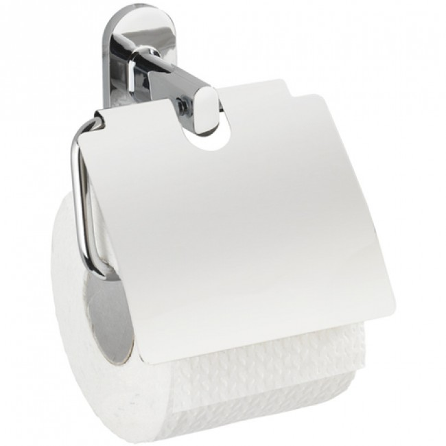 Dérouleur papier WC - Puerto Rico - avec couvercle - Power-Loc WENKO
