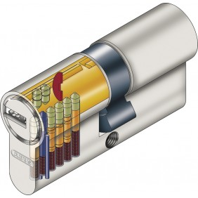 Cylindre varié débrayable nickelé – ec-s ABUS