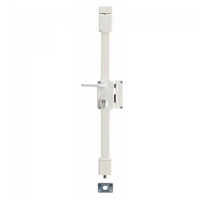 Serrure 3 points en applique - carré 7 mm - cylindre européen - Targa FTH THIRARD