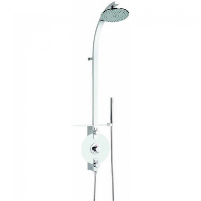 colonne de douche pur e laiton verre blanc valentin bricozor. Black Bedroom Furniture Sets. Home Design Ideas