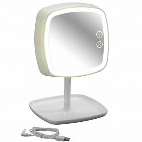 Miroir/Lampe de chevet tactile - Lumière LED - Grossissant x5 - ABS WENKO