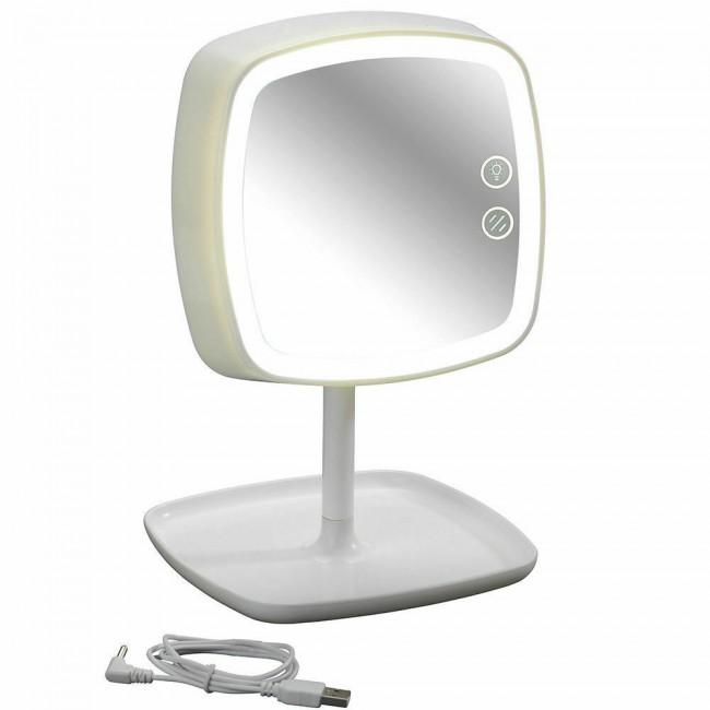 Miroir/Lampe de chevet tactile - Ostia - Lumière LED - Grossissant x5 WENKO