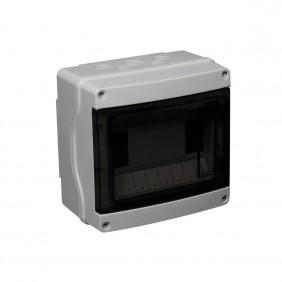 Coffret étanche 4 à 12 modules gris IP65 + Bornier DEBFLEX