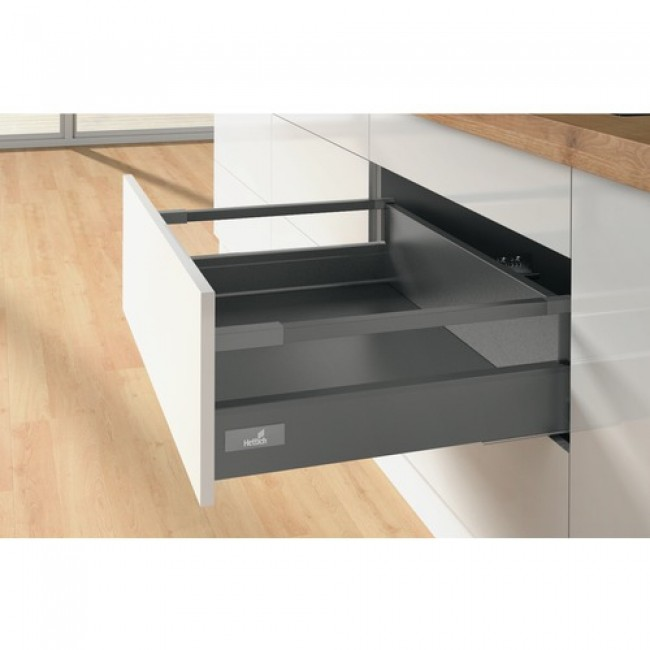 Kit tiroir tringles InnoTech Atira-H144 mm-sans coulisses-anthracite HETTICH
