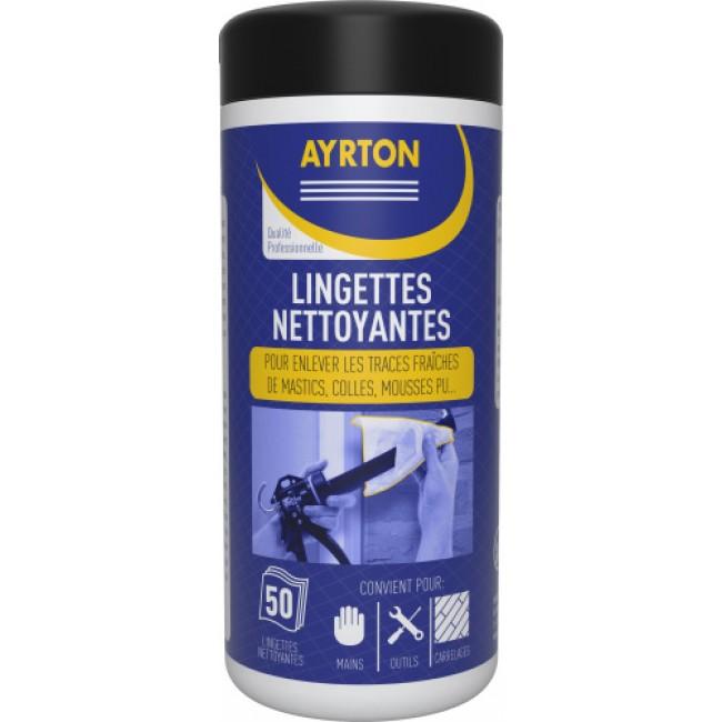 Lingettes nettoyantes - mastics - mousses - peintures AYRTON