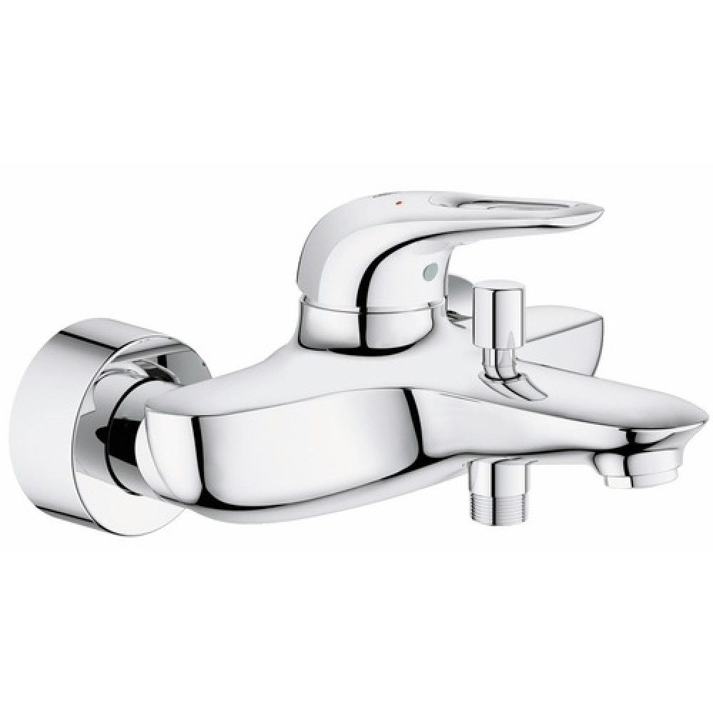 mitigeur bain douche pose murale entraxe 150 mm eurostyle grohe bricozor. Black Bedroom Furniture Sets. Home Design Ideas