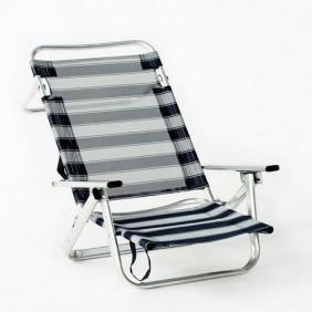 Lot de 2 fauteuils de plage bas multipositions pliables – Maribel 130 INDOOR OUTDOOR