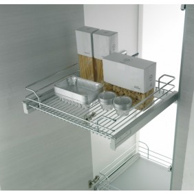 Panier extractible pour placard de cuisine - Gold 1202 B - 25 Kg INOXA