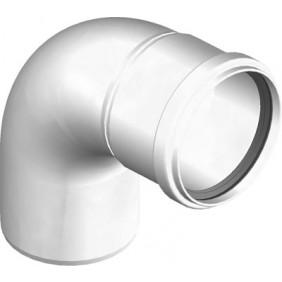 Coude à 87° PPS rigide pour tubage de chaudière à condensation TEN