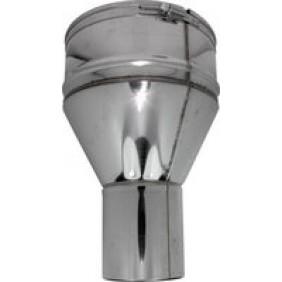 Raccord inox - conduit pellets vers tubage flexible TEN
