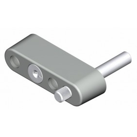 Verrou entrebâilleur à clé pour baie coulissante aluminium LA CROISÉE DS
