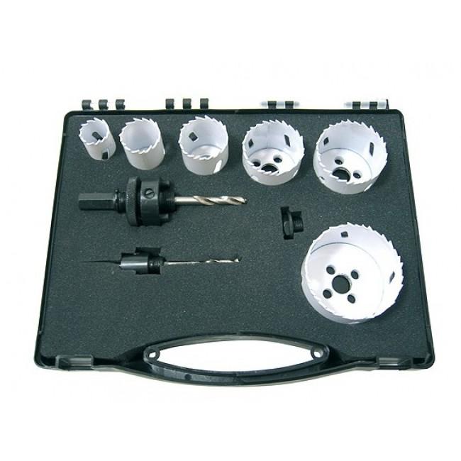 Coffret électricien 6 trépans bi-métal + accessoires LEMAN