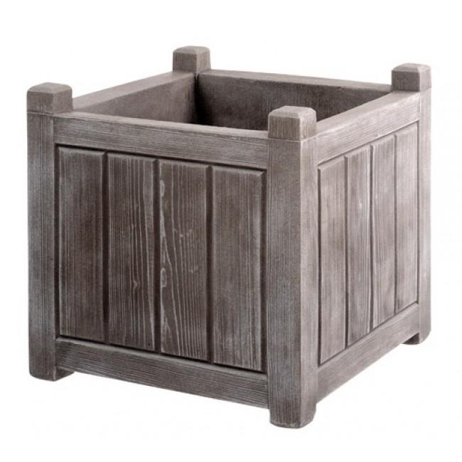 Bac carré - gris cérusé - 31 litres - Charme 13810 EDA PLASTIQUES