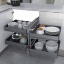 Ferrure 839 Compact 2 pour meuble d'angle - Ikona INOXA