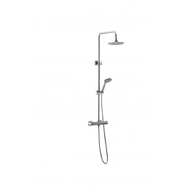Colonne de douche thermostatique avec douche de tête 20 cm FUSION ABS SARODIS