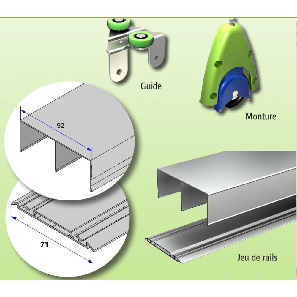kit pour placard coulissant picostar 19 2 vantaux de 55 kg bricozor. Black Bedroom Furniture Sets. Home Design Ideas