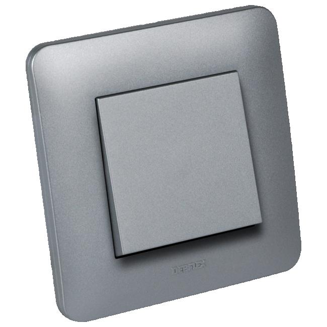 Interrupteur va-et-vient complet - aluminium brillant - Casual DEBFLEX