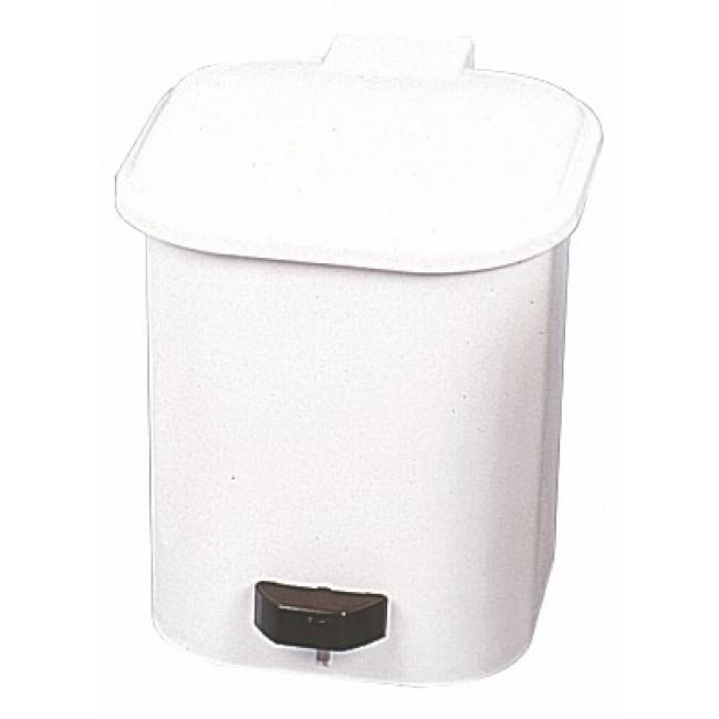 Poubelle 1 seau - plastique blanc BRICOZOR
