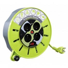 Enrouleur électrique - câble - multiprises - nomade - Pro XT - 8 m LUCECO