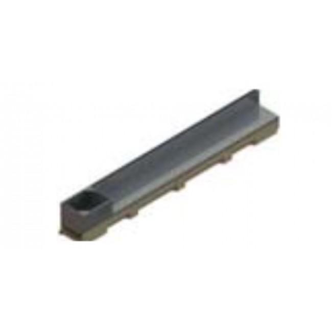 Caniveau acier galvanisé - couverture à fente sans pentes - Self 100 ACO