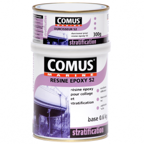 Résine epoxy de stratification incolore - 0,90 kg COMUS