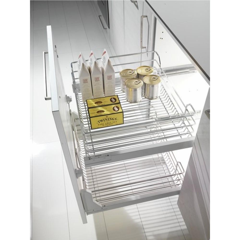 Panier haut pour tiroir de cuisine extractible gold 1202 s 25 kg inoxa bricozor - Amortisseur de tiroir de cuisine ...
