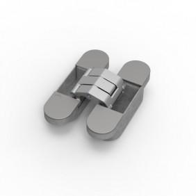 Paumelle invisible - en aluminium - Tyo ARGENTA