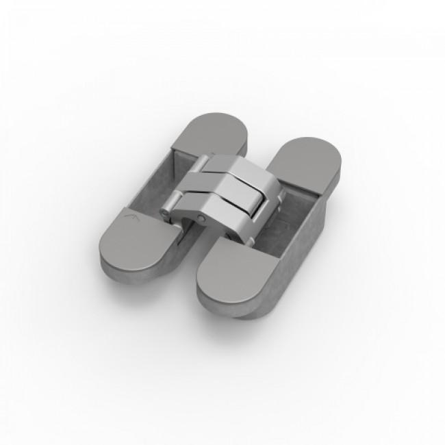 Paumelle invisible - portes lourdes - en aluminium - lot de 3 - Tyo ARGENTA